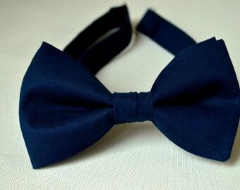 Navy Bow Ties-Dark Blue Bow Ties For Men-Navy Blue Bow Tie-Kids bow Ties-Groomsmen Bow Ties-Boys bow Tie-Clip Bow Tie-Baby Bow Tie