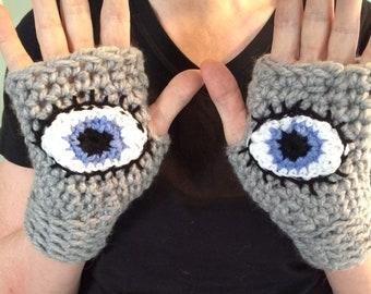 Crochet Pattern, Evil Eye Gloves Pattern, March for Our Lives, fingerless gloves PDF pattern, crochet glove pattern, digital download pdf
