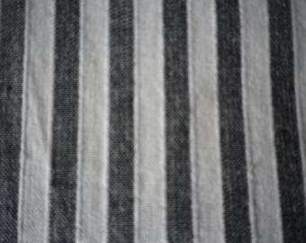 Pure cotton quarter inch black and white stripe, wide range of year round uses, 8 metres available