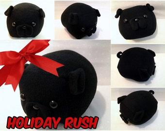 RUSH - Black Medium Pug Loaf
