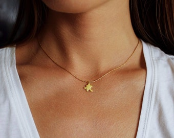 Friendship Necklace, Puzzle Necklace, Friendship Gift, Gift For Friend, BFF Necklace, Long Distance Friendship, BFF Necklaces, Gold Necklace