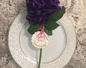 6 Scarves bridal shower favor flower personalized