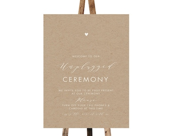Printable Unplugged wedding sign, Misty, Ceremony decor Unplugged sign Wedding signage diy Unplugged ceremony sign No cellphone