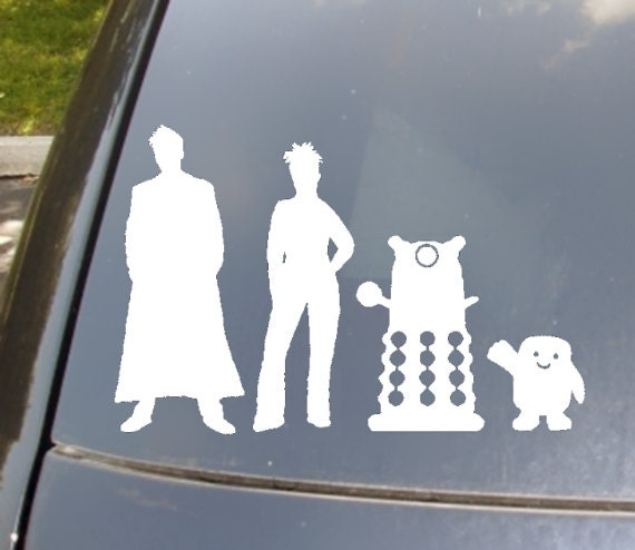 The doctors family car sticker set of 4