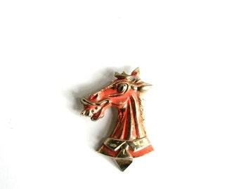 vintage donkey can opener church key . enameled metal donkey in a necktie . vintage barware . funny gift . anthropomorphic donkey