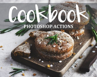 40 Food Photoshop Actions - Food Actions Set - Matte PS Actions - Vintage Photoshop Effects - Black White Actions - Food Photoshop Effects