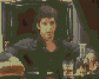 Tony Montana clip from Scarface counted Cross Stitch Pattern Al Pacino