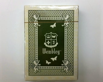 WEMBLEY CASINO and LOUNGE Poker Size Playing Cards Dealer's Deck in Original Package