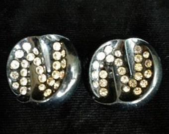 Beautiful Black Bakelite Earrings