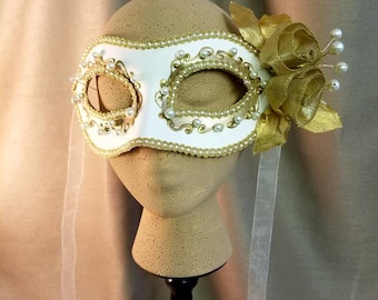 GOLDEN AGE  Hand Painted Masquerade Mask