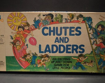 Vintage 1979 Milton Bradley Chutes and Ladders Game-4555