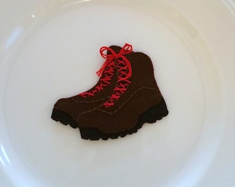 Hiking Boots Felt Christmas Handmade Ornament