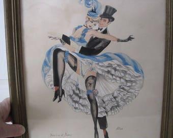 vintage Denice et Denis - Original Watercolor