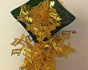 Just Married Gold Confetti - Wedding Party Confetti - OilPatchBurlesque - Table decorations