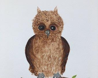 Cute Owl - A4 Print