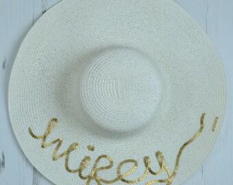 Serafina 'Wifey' Wide Brim Floppy Sun Hat