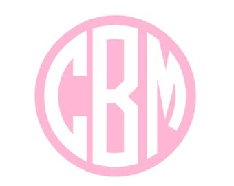 Personalized Round Monogram Sticker, Custom Kids Name Labels for School Supplies, Notebook Label, Folder Stickers, Back to School Stickers