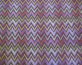 Aztec Chevron Woven Upholstery Fabric 1 Yard & 5 Inches From Calico Corner