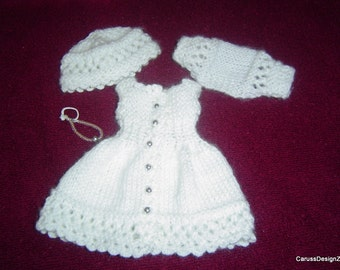 """0046 Smaller Little Darling Pattern,4PC Miniature Knitting Crochet Pattern,13"""" Effner Dolls by CarussDesignZ"""