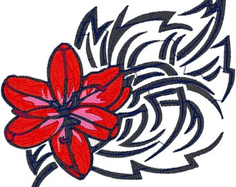 6X6 Tribal Flowers Machine Embroidery Designs. zip file downloadable.