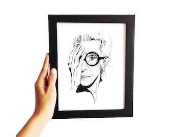Iris • Fashion Illustration | Glicée Art Print | Wall Art | Portrait