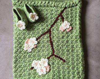 Apple Blossom Infant Blanket