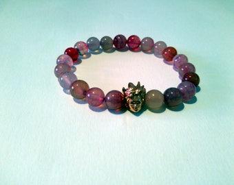 Bracelet natural stone dragon vein