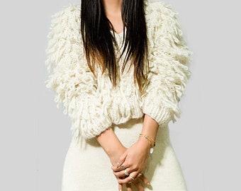 Chunky Oversized knit cardigan sweaters women/ maxi cardigan women clothing/ alpaca cardigan