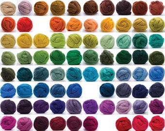 Merino Wool Top - 100 colors - 1 oz each