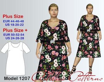 Summer Dress Sewing Pattern PDF, Dress for sizes 18-28, Summer Dress PDF Instant Download Sewing Pattern,