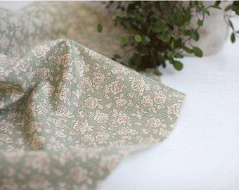"Classic Antique Rose Cotton Fabric (43 x 36"") - Mint - per Yard 15768"