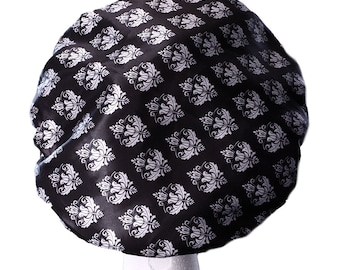 Damask Luxury MICROFIBRE Lined Shower Cap Ultra Protective Bath Hat Adult / Teenager / Kids Shower Caps