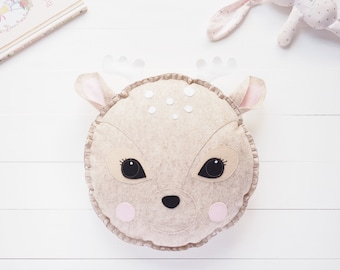 Rosie the Deer wool felt cushion