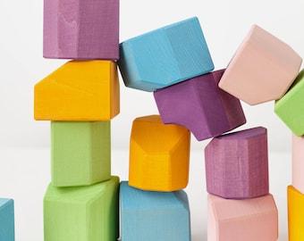 Building blocks | Waldorf blocks | Blocks set | Building set | Birthday gift | Toddler toy | Cubes | non-cubes|
