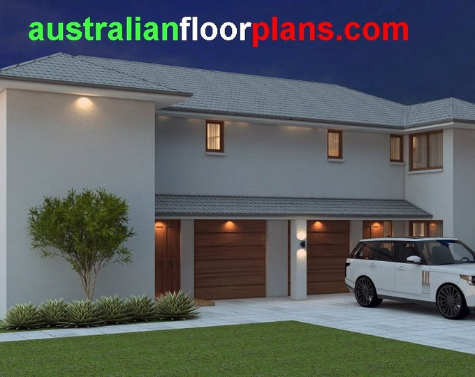 269 m2 | 6 Bed + Study Townhouse design | 6 Bedroom  Townhouse design | 6 Bedroom  blueprint | 6 Bedroom modern Townhouse design| townhouse