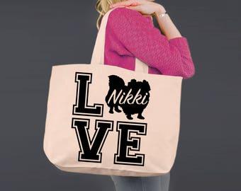 Pekingese Love | Akita Dog | Tote Bag | Canvas Tote Bag | Beach Tote | Canvas Tote | Shopping Tote | Shopping Bag | Dog Tote | Korena Loves