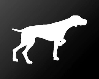 German Shorthaired Pointer Vinyl Decal Car Window Laptop Dog Silhouette Sticker