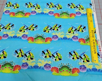 Fish Tank-Tropical Fish Cotton Fabric from Michael Miller