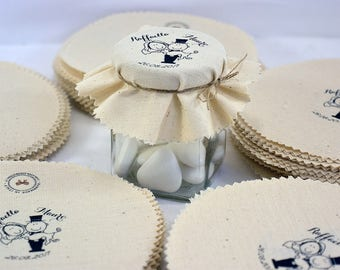10 Personalized favors-lid cover for wedding