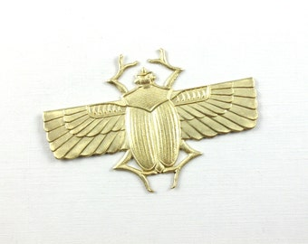X Large egyptian winged SCARAB beetle embellishment  70mm x 46mm (FF21f). Please read description