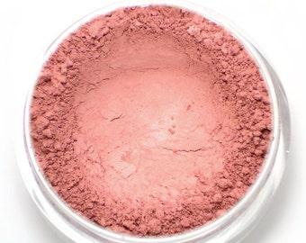 "Matte Light Plum Pink Blush - ""Sugar Plum"" - Vegan Mineral Blush Powder Net Wt 4.5g"