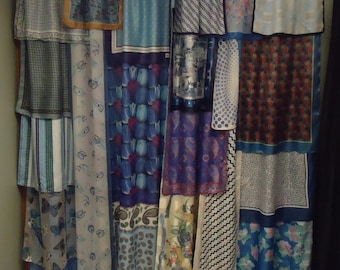 Shades of Blue #2 Gypsy Boho Curtains - 84""