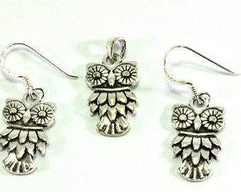Owls, jewelery set  --  4136