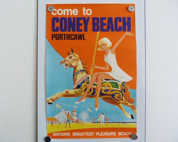Original poster, Come to Coney Beach porthcawl 1963