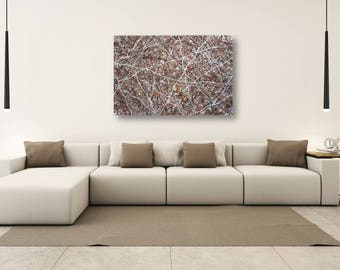"24"" x 48"" large abstract painting"