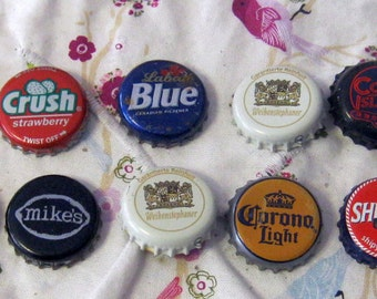 20 Various Beer Bottle Caps -Recycled-Reuse for Crafts, Jewelry,Art Beer Caps-Scouts, School Crafts, Kid Crafts