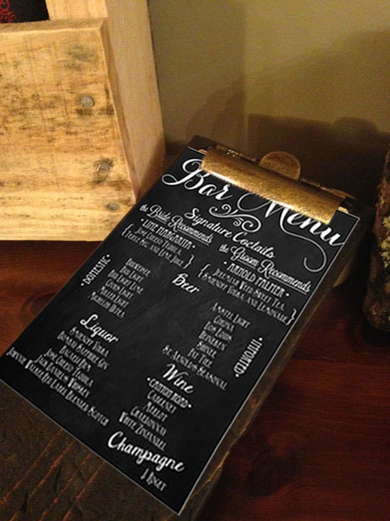Completely new Menu Clipboard Restaurant Clipboards Rustic Menu Boards XF97