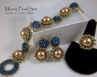 Tutorial: Minnie Pearl Bracelet & Earrings