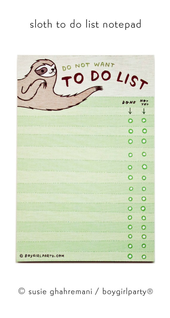 To Do Liste Ideen faultier to do liste notizblock lustige geschenke geschenke