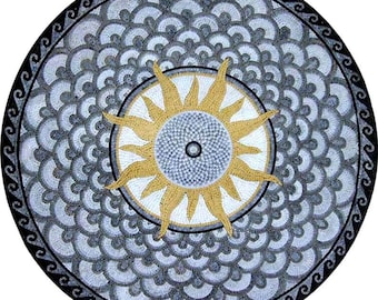 Round Stone Mosaic - Sola Gray